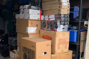 Envoi de matériel informatique par container au Bénin